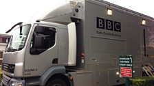 The arrival of the BBC van signalled the start of a very exciting day at Southend High School for Girls