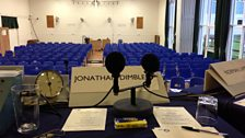 The view from Jonathan Dimbleby's seat
