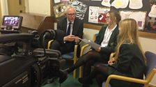 The School Reporters interview Lib Dem Care and Support Minister Norman Lamb after the broadcast