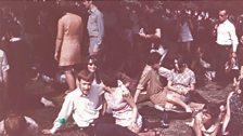 The crowd at the Rolling Stones gig at Hyde Park on 5th July 1969 - not all of them were hippies!