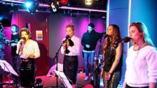 The Saturdays in the Live Lounge