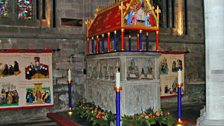The shrine in the North Transept