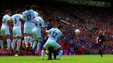 Japan playing Egypt in the London 2012 Olympic Football Mens Quarter Final