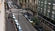 The city streets of Milan