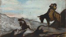 Don Quixote and Sancho Panza, c. 1855 Oil on oak 40.3 x 64.1 cm