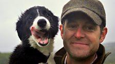 Matt with his sheep dog puppy Bob