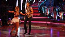 Ashley Taylor Dawson and Ola Jordan dance the Viennese Waltz