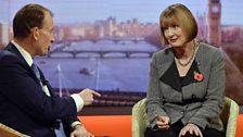 Harriet Harman speaks to Andrew Marr
