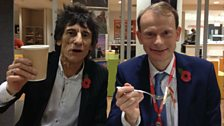 Ronnie Wood and Andrew Marr
