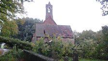 Tree hits church hall in Easterton