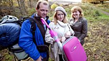 A love triangle blossoms between Murray, Eileen and Gina on a camping expedition