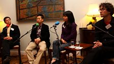 Our four Forum panellists.  Photo credit: Jackie Zhang