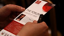The Forum: a world of ideas.  Photo credit: Jackie Zhang
