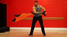 Ben Cohen and Kristina Rihanoff in Training for Halloween Week
