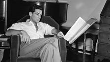 Leonard Bernstein in his West 10th Street apartment, c. 1946.