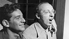 Leonard Bernstein with Aaron Copland at Bernardsville, NJ, August 1945