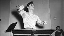 Bernstein conducting in Carnegie Hall, c.1946.
