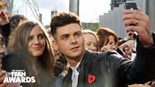 Jaymi flying the flag for Union J on the red carpet