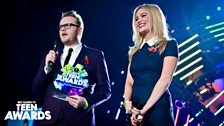 Huw Stephens and Laura Whitmore at Radio 1's Teen Awards 2013
