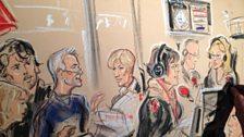 Courtroom artist Priscilla Coleman visits Broadcasting House