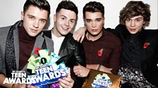 Union J backstage at Teen Awards 2013