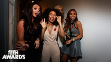 Little Mix backstage at Teen Awards 2013