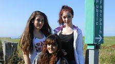 Sarah, Abi and Irum