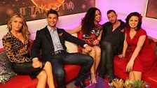 Aljaz tries to cosy up to Natalie...
