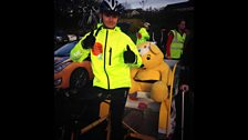 Pudsey hitches a ride