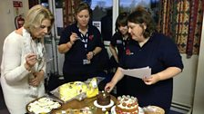 Judging the cakes