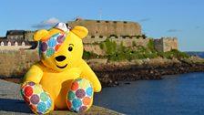 Pudsey Bear at Castle Cornet