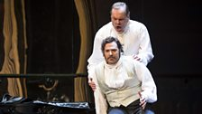 Michael Volle as Montfort and Bryan Hymel as Henri (Act III)