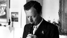 Benjamin Britten playing the recorder c. 1955