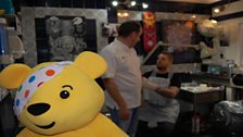 Pudsey supervises the process