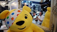 We took Pudsey along for moral support today