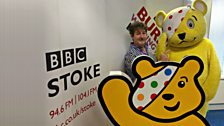 James with Pudsey...and Pudsey!
