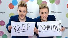 Keep donating!