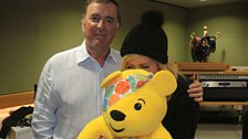 Ellie Goulding with Sir Terry and Pudsey