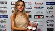 Manisha Tailor at Asian Football Awards