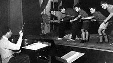 1960 - rehearsing A Midsummer Night's Dream