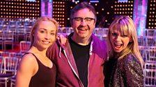 Zoe bumps into Mark and Iveta at Elstree...