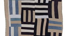"Loretta Pettway – ""Roman Stripes"" Variation (Local Name: Crazy Quilt), 1970"