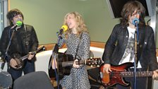 The Band Perry warming up