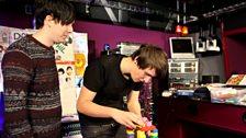 Dan steps up for the building blocks challenge