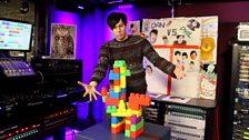 Phil presents his masterpiece (a reindeer)