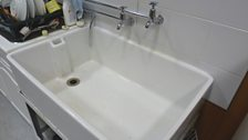 Belfast sink - also stands in for baths, or even swimming pools