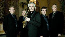 The Hilliard Ensembe with Jan Garbrek: David James, Rogers Covey-Crump, Jan Garbrek, Steven Harrold and Gordon Jones