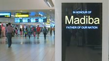 Mandela tribute in OR Tambo shopping concourse