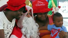 Santa Claus in Maponya shopping mall, Soweto