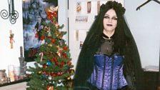 Melanie Metcalfe-Thompson at Christmas in 2000
